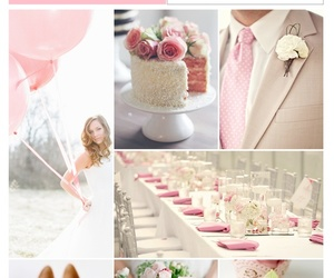 wedding, pink, and white image