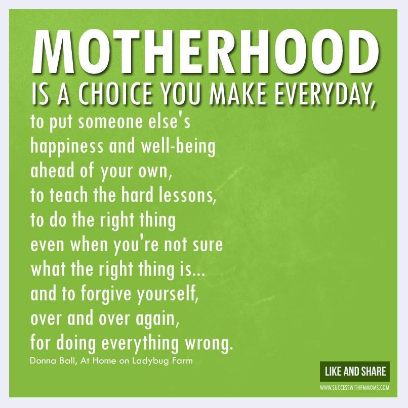 Becoming A Mother Quotes And Sayings
