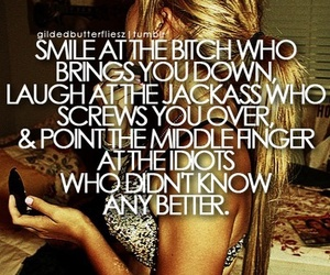 quotes, bitch, and smile image