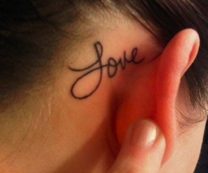 tattoo, love, and ear image