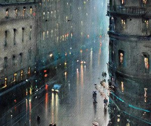 rain, art, and city image