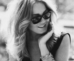 black and white, bracelet, and blonde image