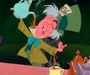 alice in wonderland, disney, and mad hatter image