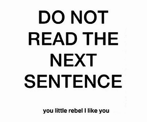 rebel, funny, and quotes image