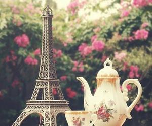 paris, flowers, and tea image