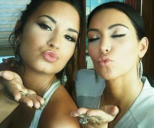 beautiful, demi, and kiss image