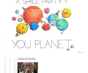 pluto, planet, and funny image