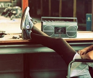 music, converse, and radio image