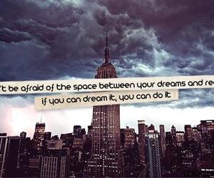 quote, dreams, and space image