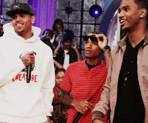 chris brown, trey songz, and bow wow image