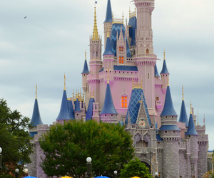 castle, disney, and magic image