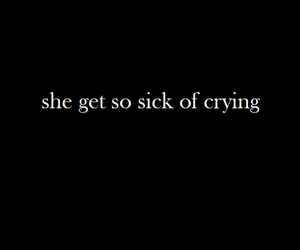 black and white, broken, and cry image
