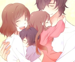 anime, family, and wolf children image