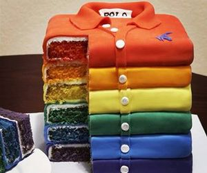 cake, colorfull, and shirt image