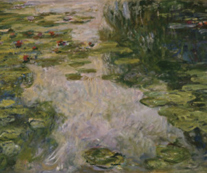 art, claude monet, and water lilies image