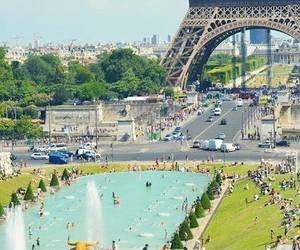 paris and summer image