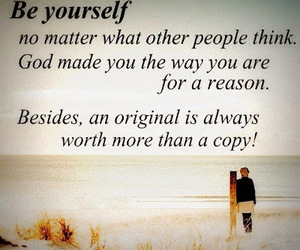 quotes, be yourself, and god image