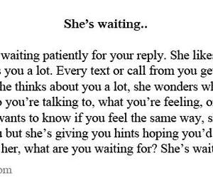 quote, waiting, and love image