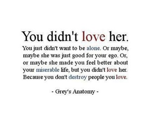 love, grey's anatomy, and destroy image