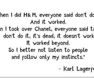 karl lagerfeld, life, and quote image