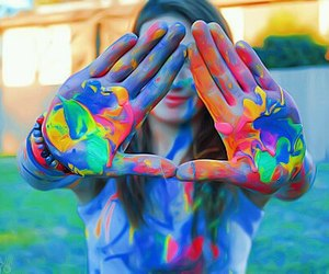 beauty, colorful, and colours image