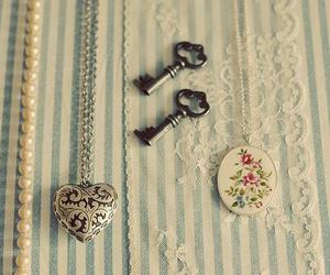 key, vintage, and necklace image