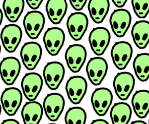 90s, header, and alien image
