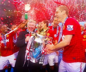 football, futbol, and manchester united image