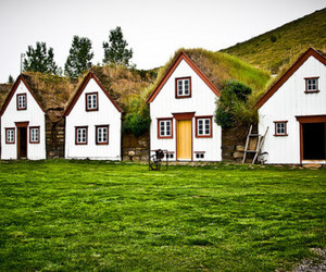 green, Houses, and nature image