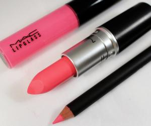 pink, mac, and lipstick image