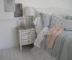 bed, decoration, and loveit image