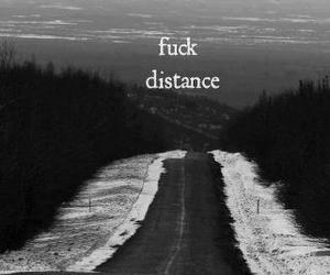 black and white, vintage, and distance image