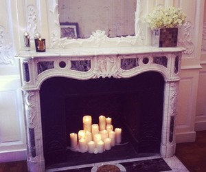 candle and fireplace image