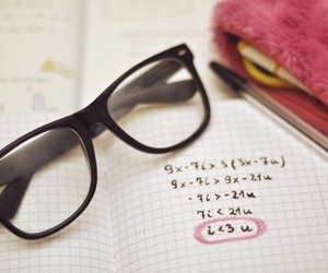 glasses, I Love You, and math image