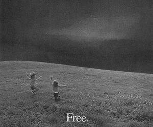 free, freedom, and kids image