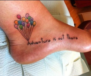 tattoo, adventure, and balloons image