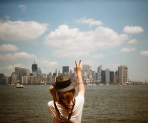 girl, city, and peace image