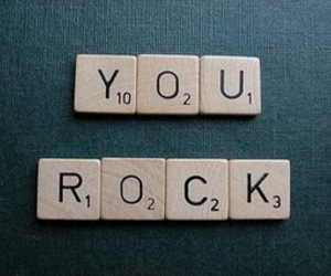scrabble, rock, and black image