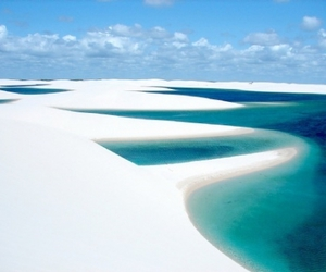 beach, brazil, and landscape image