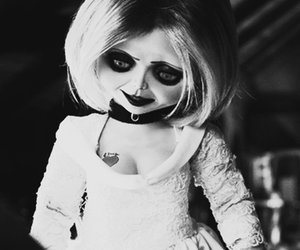 black and white, Chucky, and hipster image