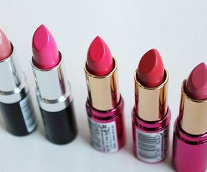 lipstick, pink, and makeup image