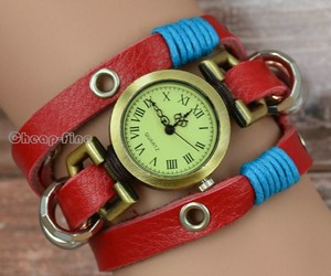 girl, watches, and genuine leather image