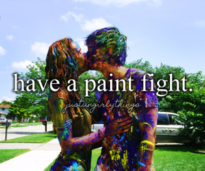 love, paint, and couple image