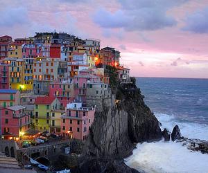 house, sea, and city image