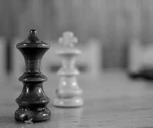black and white and chess image