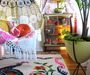 room, colors, and bohemian image