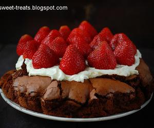 cake, chocolate, and flourless image