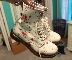 boots, shoes, and flowers image