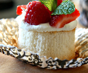 cupcakes, whipped cream, and angel food image