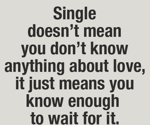 love, single, and quotes image